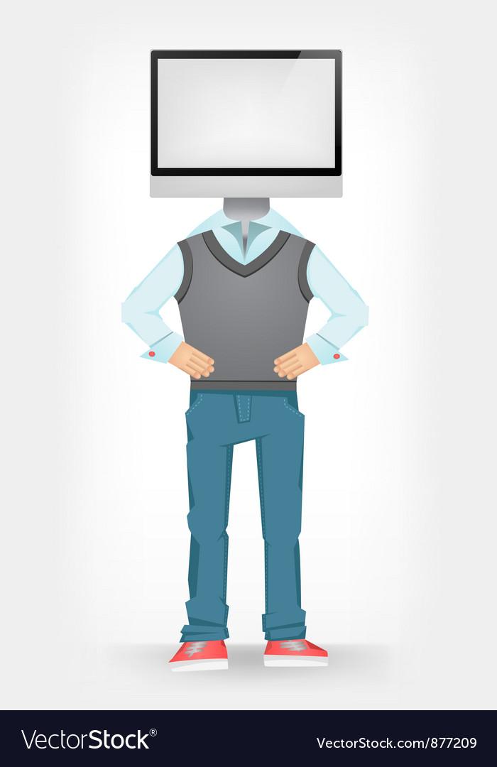 Computer guy vector | Price: 3 Credit (USD $3)