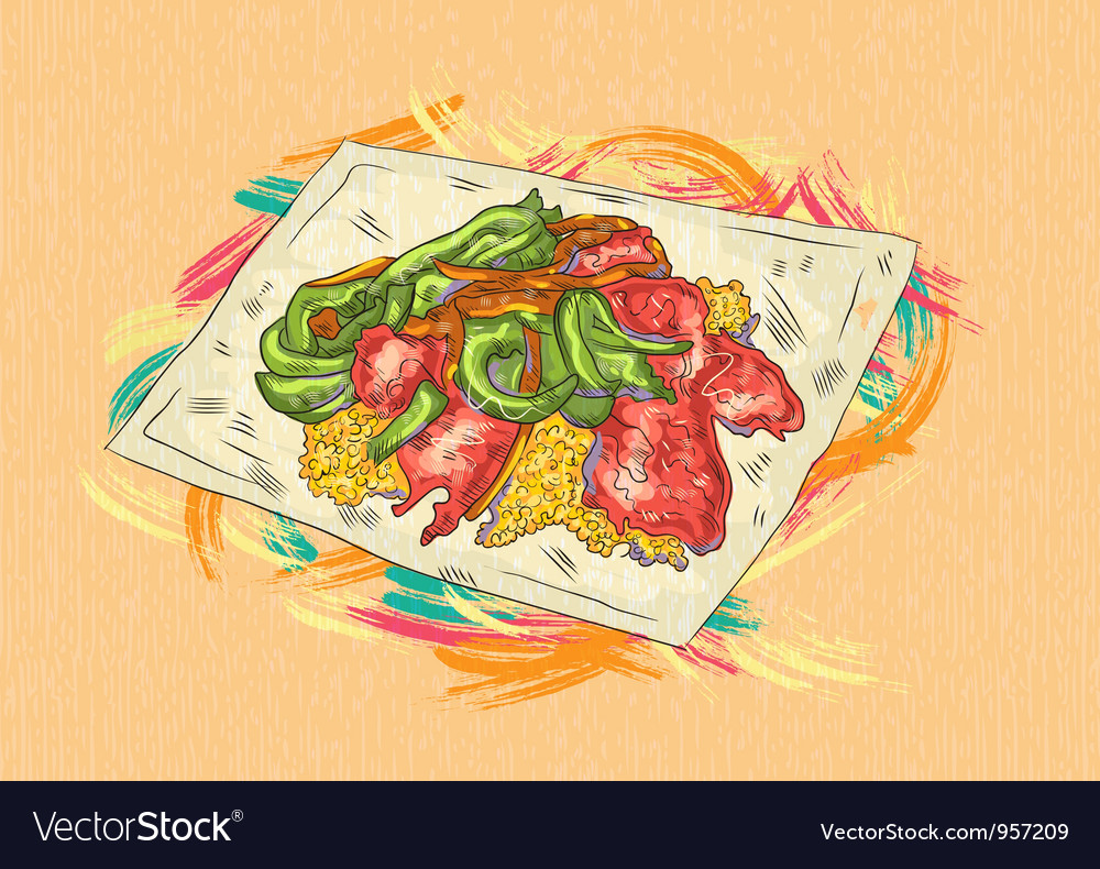 Cooked food vector | Price: 1 Credit (USD $1)