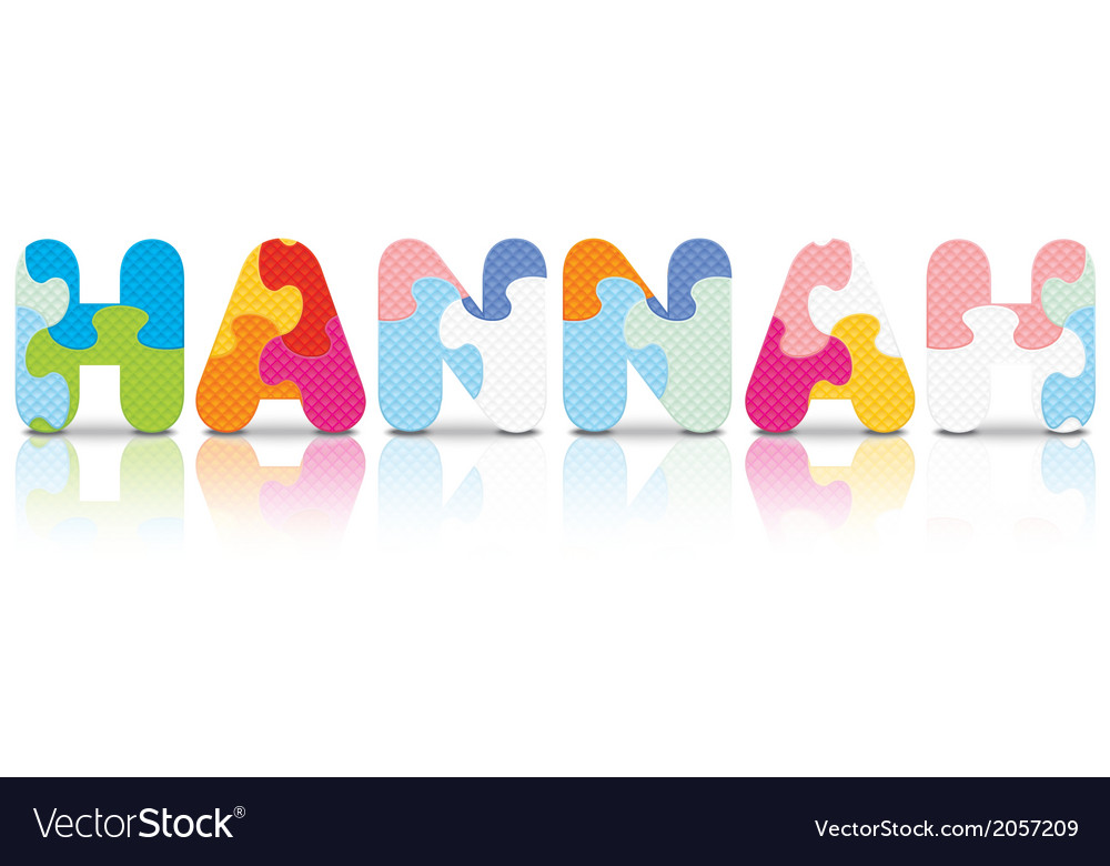 Hannah written with alphabet puzzle vector   Price: 1 Credit (USD $1)