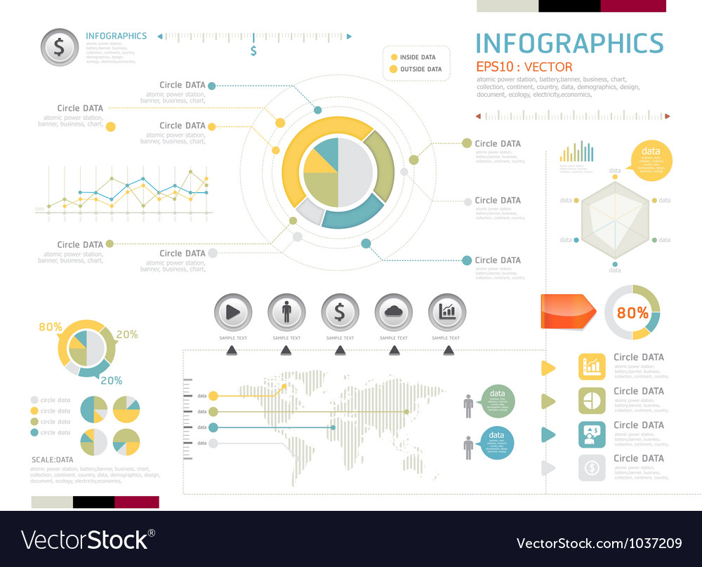 Info graphic icon vector | Price: 1 Credit (USD $1)