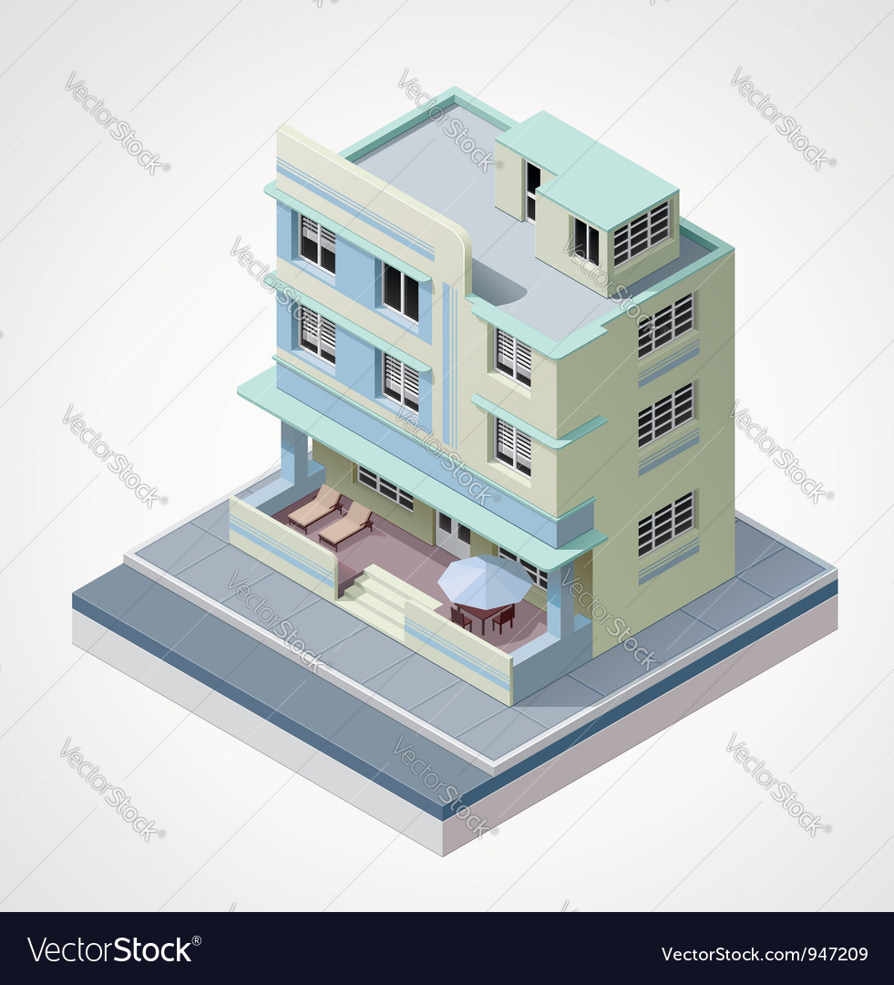 Isometric building vector | Price: 3 Credit (USD $3)