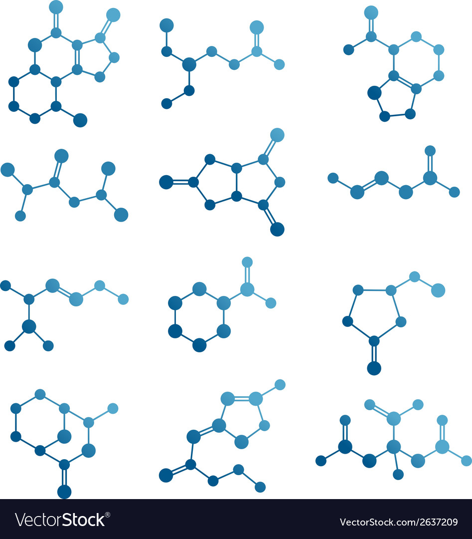 Set of molecules vector | Price: 1 Credit (USD $1)