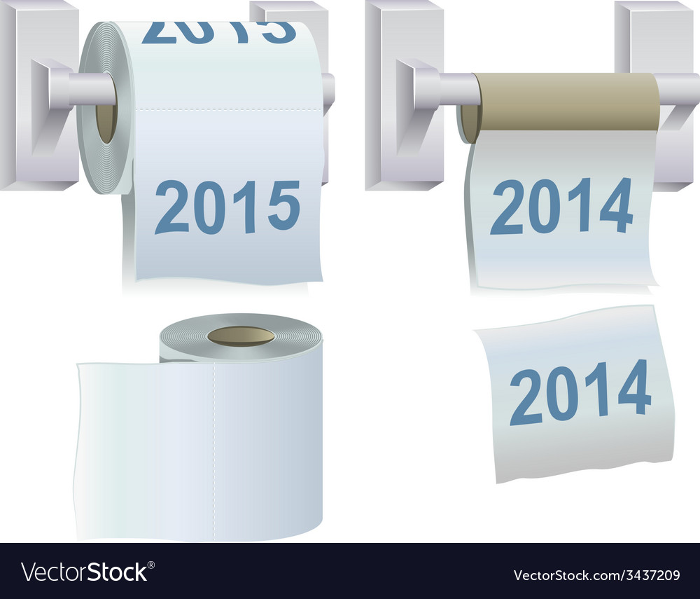 Toilet paper 2014 and 2015 vector | Price: 1 Credit (USD $1)