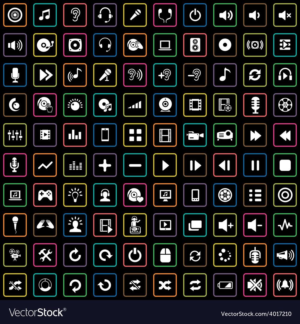 100 dj icons vector | Price: 1 Credit (USD $1)