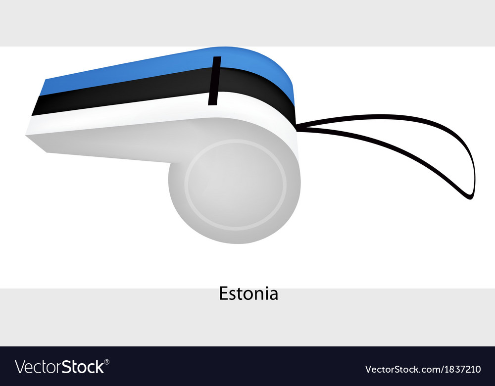 A whistle of the republic of estonia vector | Price: 1 Credit (USD $1)