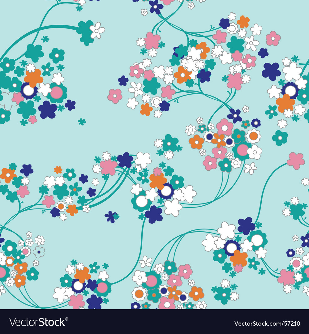 Cute floral background vector | Price: 1 Credit (USD $1)