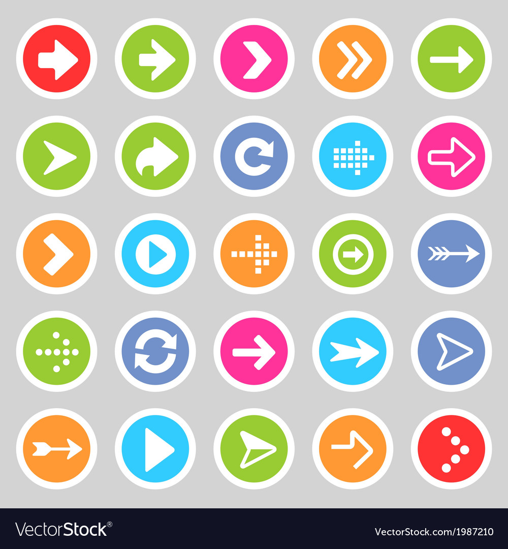 Flat arrow icons 5 vector | Price: 1 Credit (USD $1)