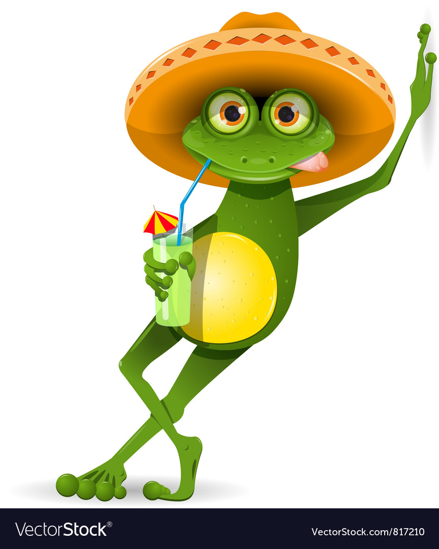 Frog in a hat vector | Price: 3 Credit (USD $3)
