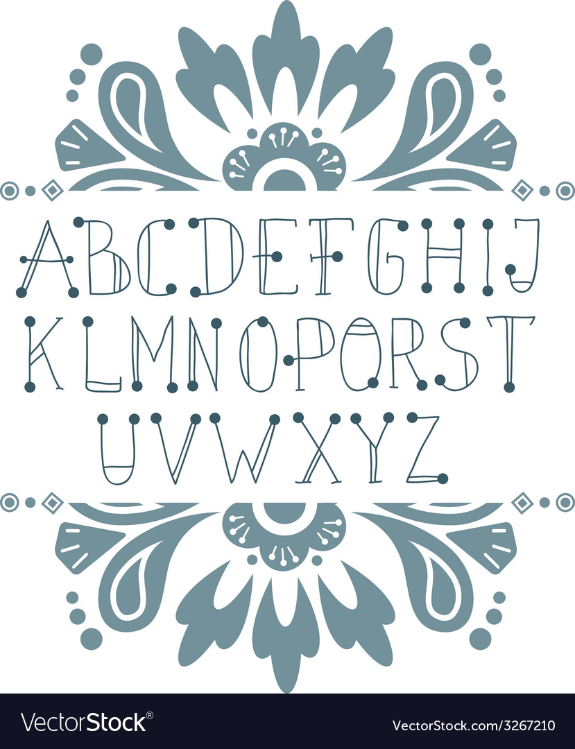 Hand written abc letters vector | Price: 1 Credit (USD $1)