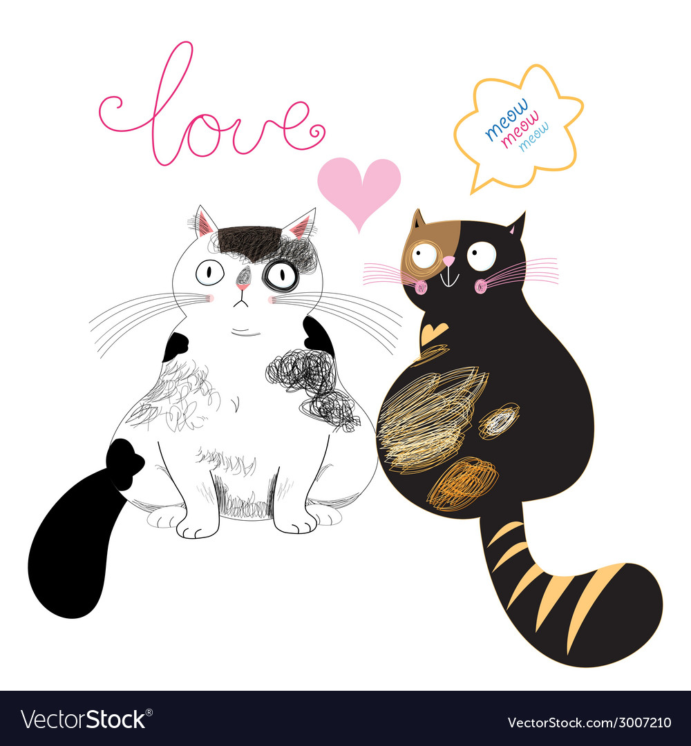 Love cats vector | Price: 1 Credit (USD $1)