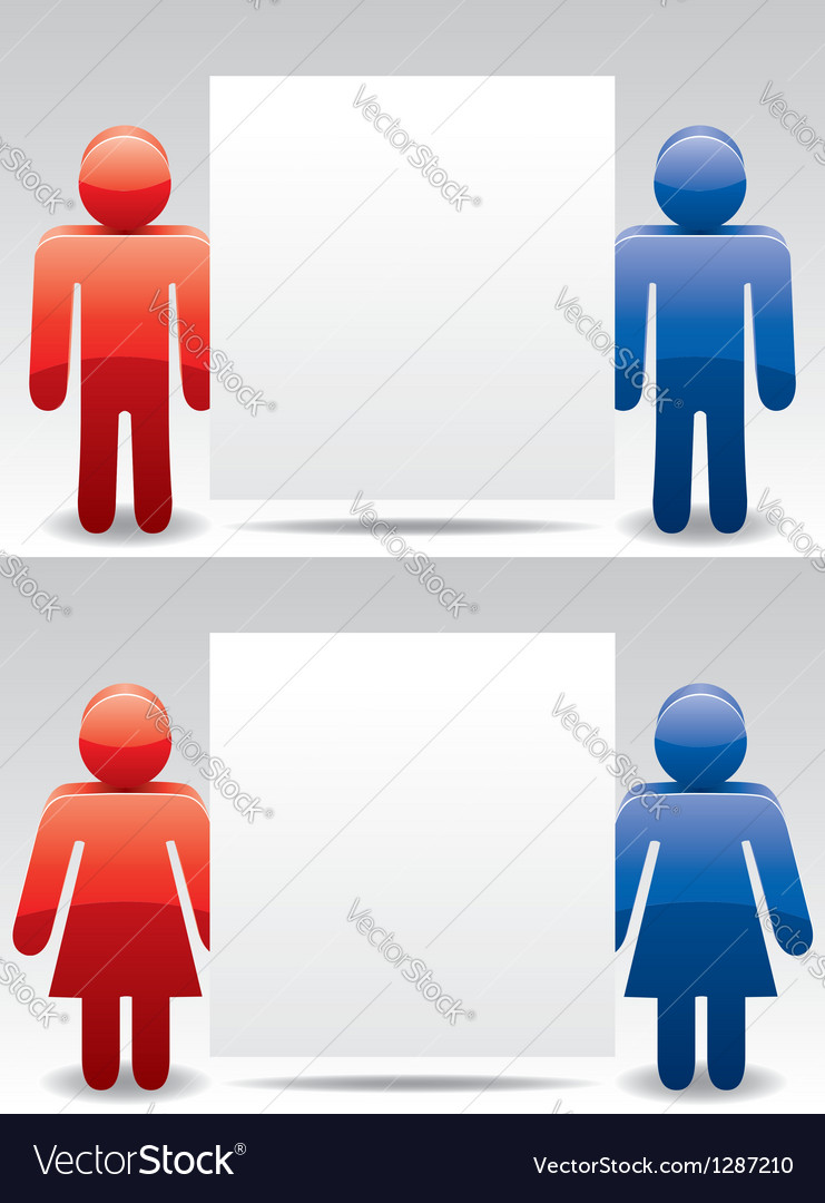 Man and woman symbols vector | Price: 1 Credit (USD $1)