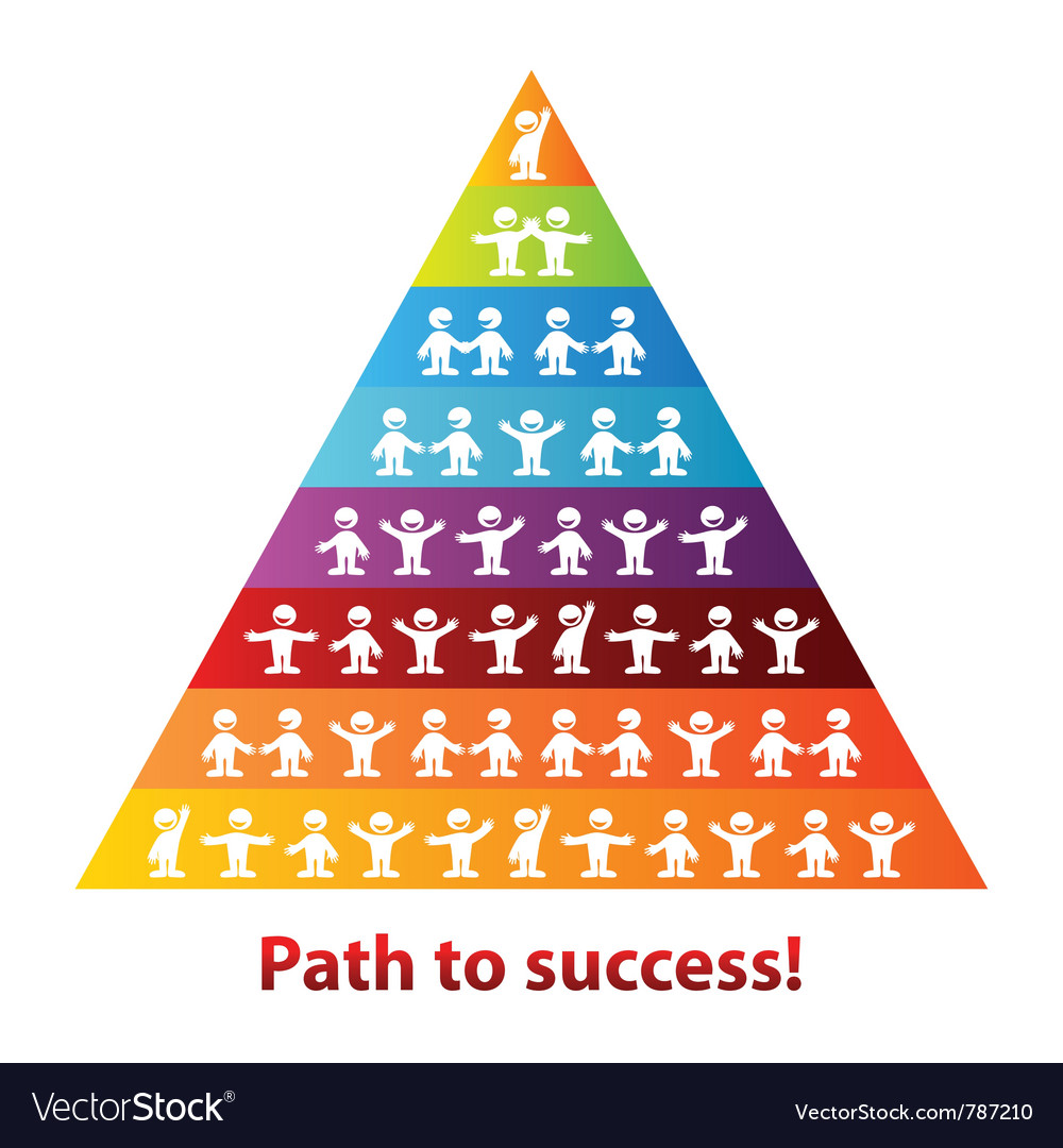 Pyramid of success business vector | Price: 1 Credit (USD $1)