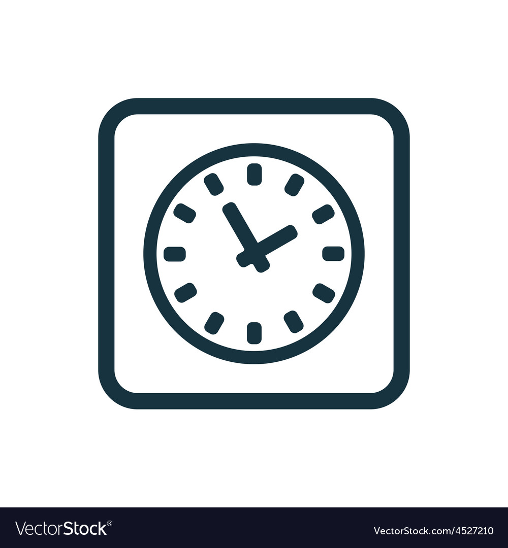 Time icon rounded squares button vector | Price: 1 Credit (USD $1)