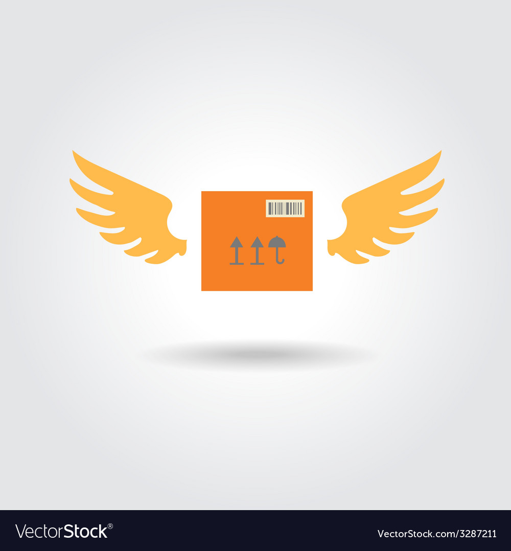 Abstract box design concept fast delivery logo vector | Price: 1 Credit (USD $1)