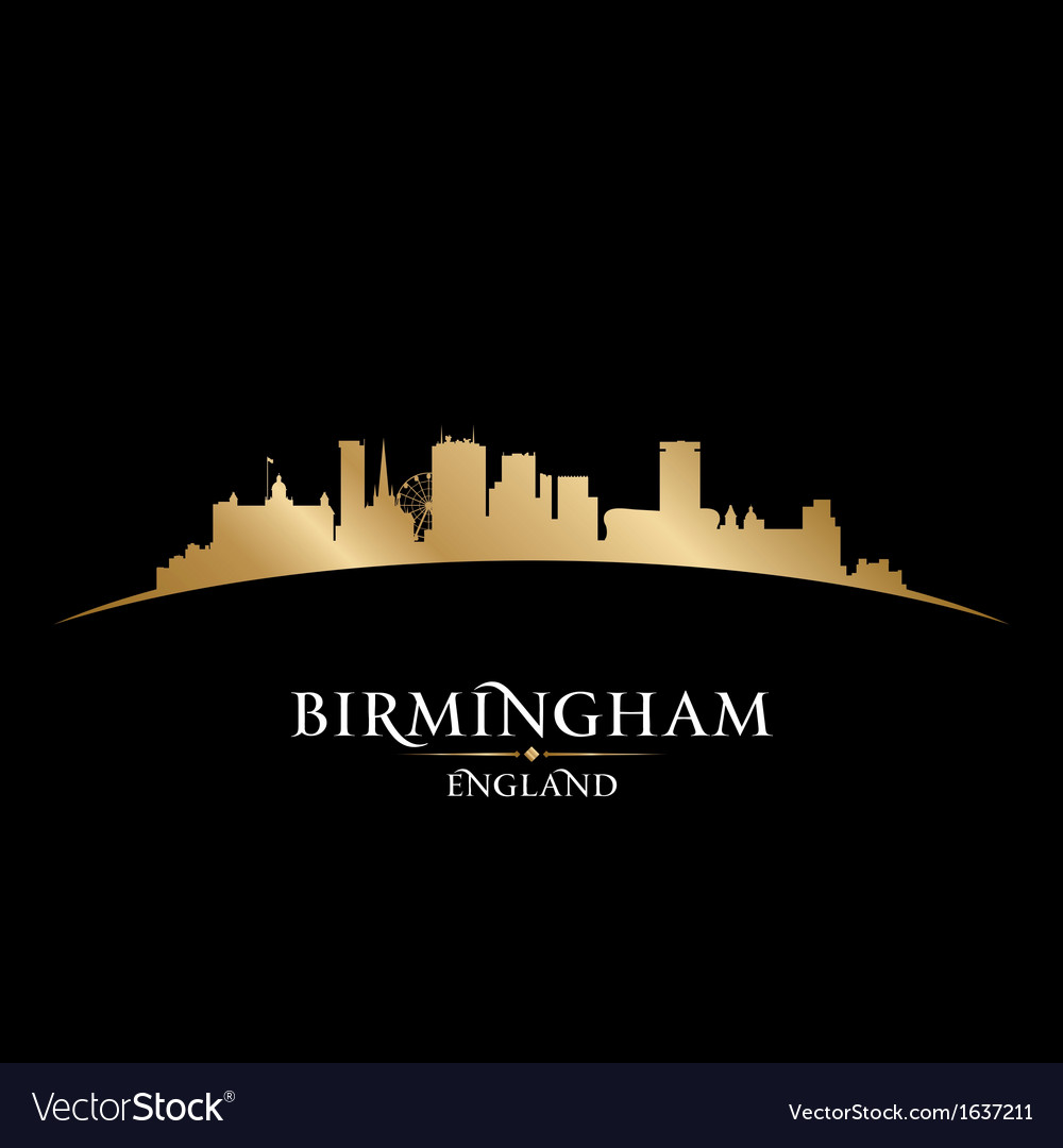 Birmingham england city skyline silhouette vector | Price: 1 Credit (USD $1)