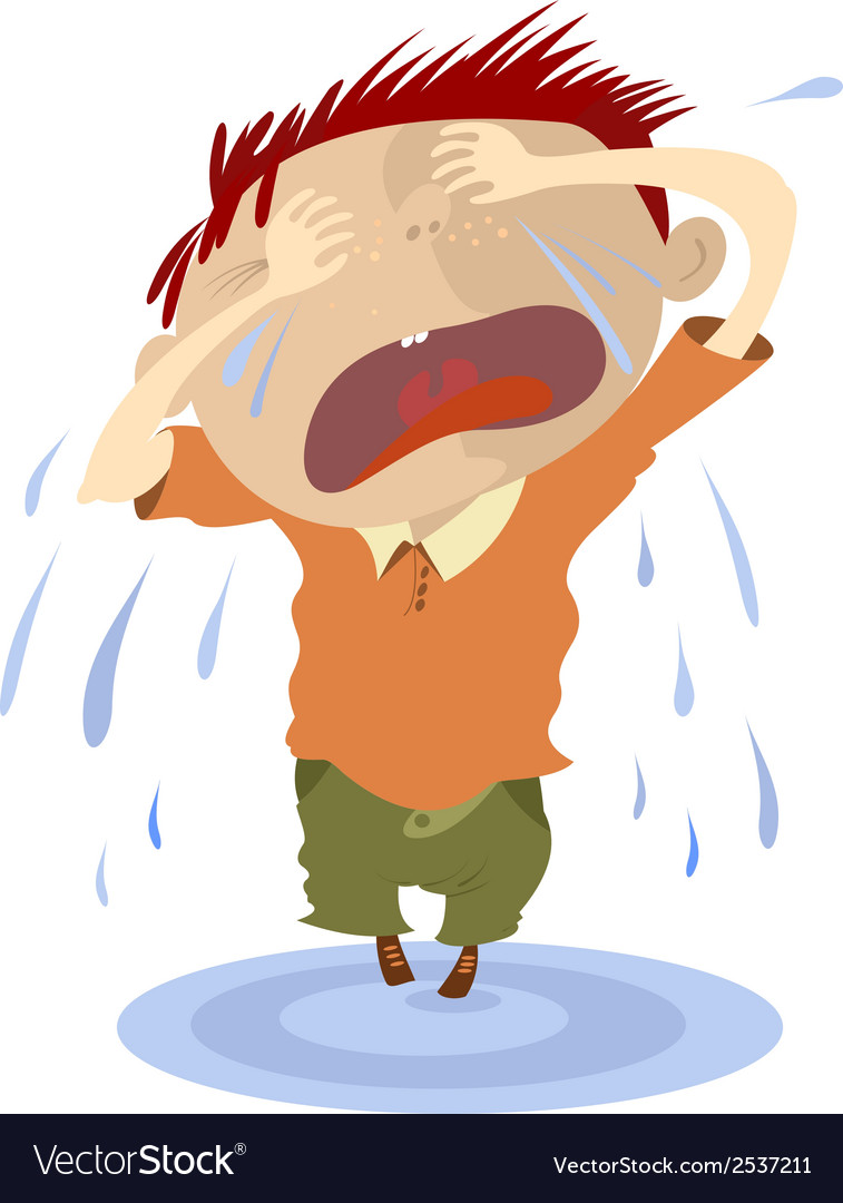 Crying child vector | Price: 1 Credit (USD $1)