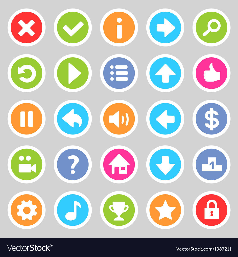 Flat game icons 8 vector | Price: 1 Credit (USD $1)