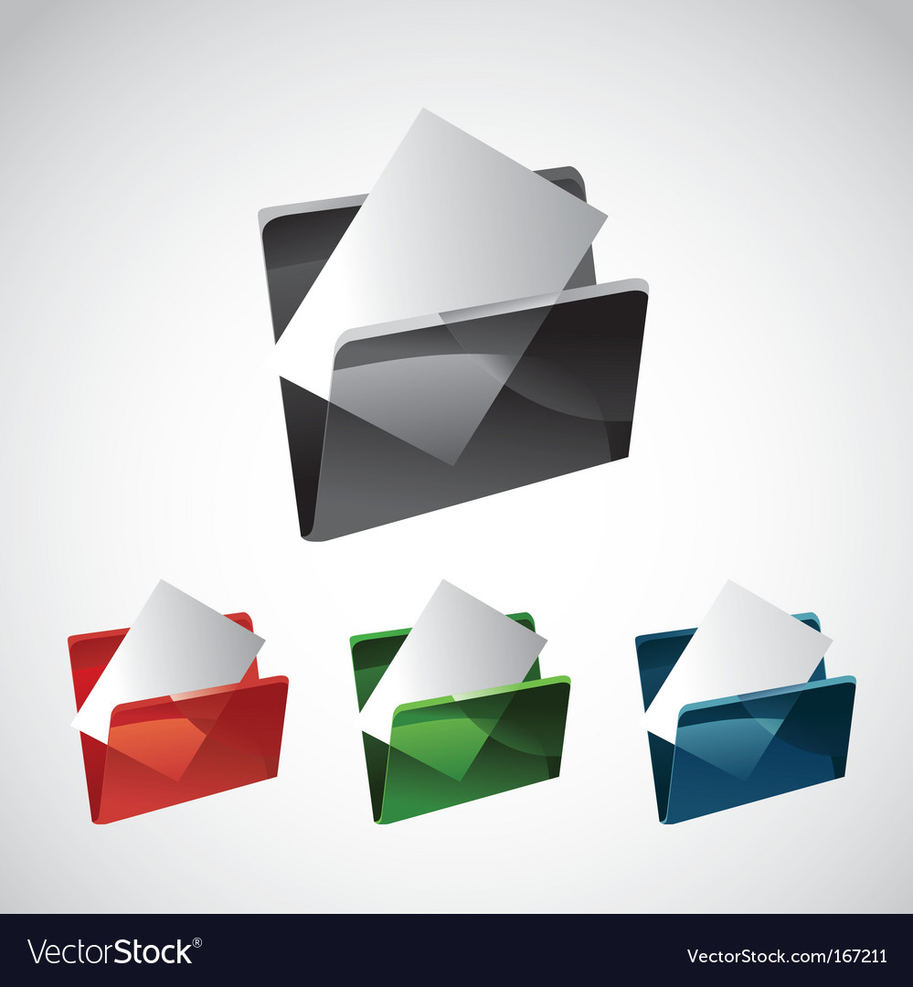 Folder and file vector | Price: 1 Credit (USD $1)