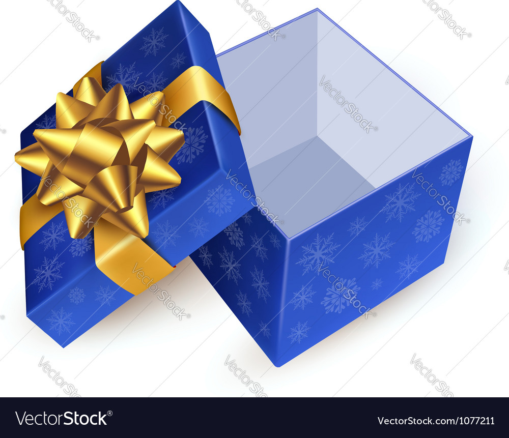 Gift box with golden ribbon vector | Price: 1 Credit (USD $1)