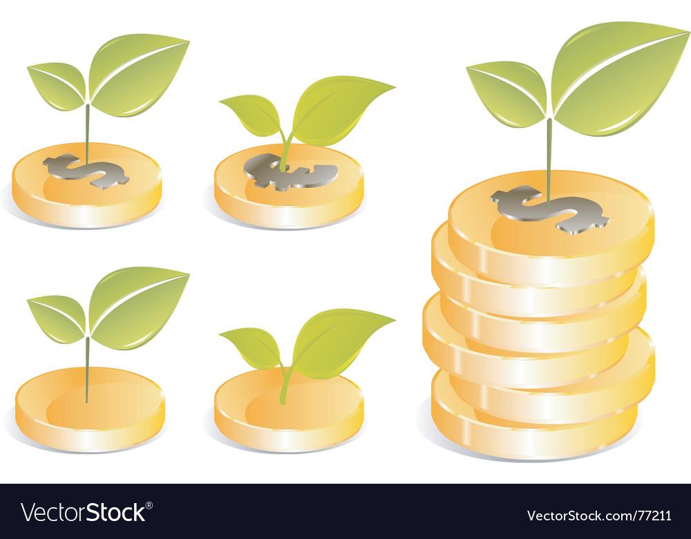 Golden coins vector | Price: 1 Credit (USD $1)