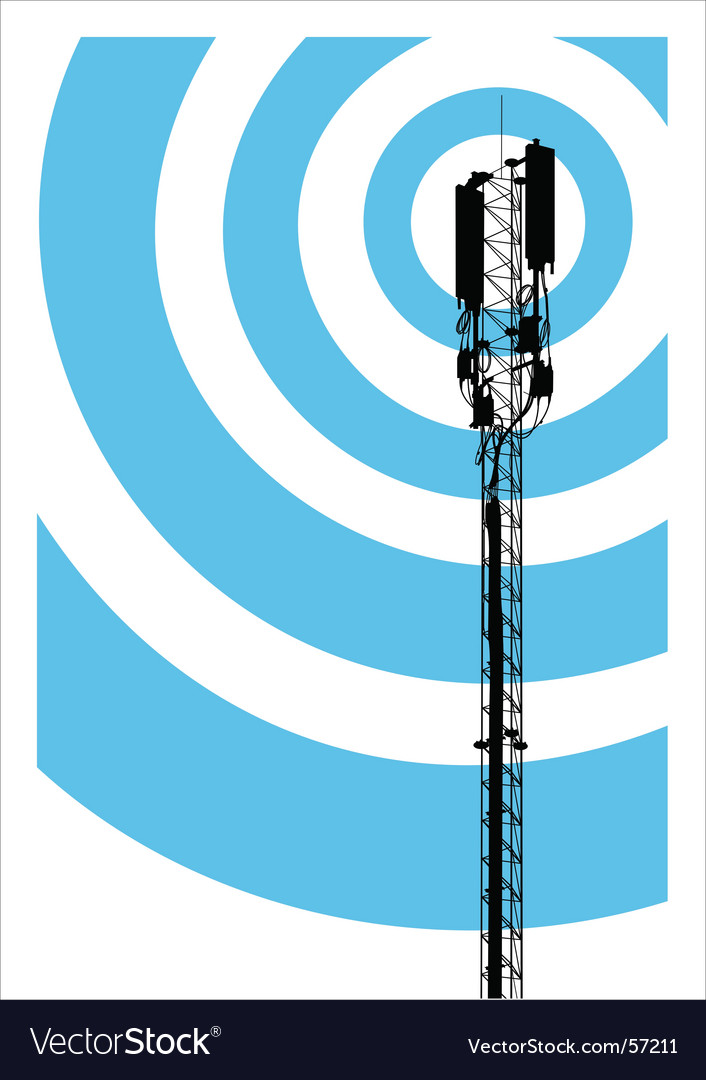 Mobile communication mast vector | Price: 1 Credit (USD $1)