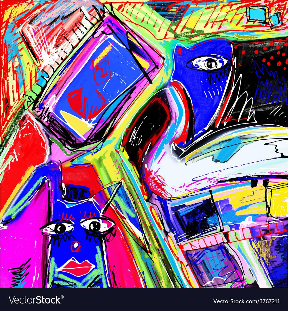 Original of abstract art digital vector | Price: 1 Credit (USD $1)