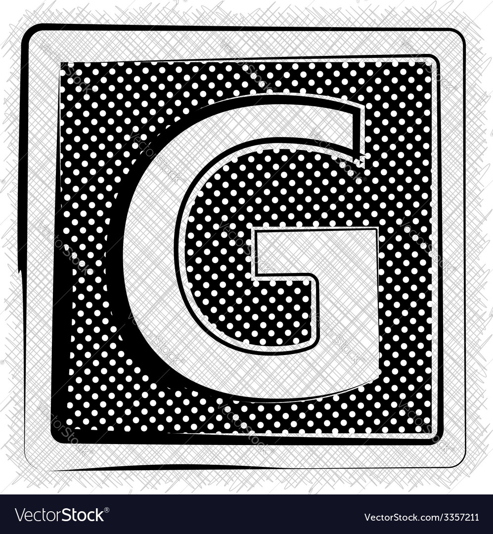 Polka dot font letter g vector | Price: 1 Credit (USD $1)