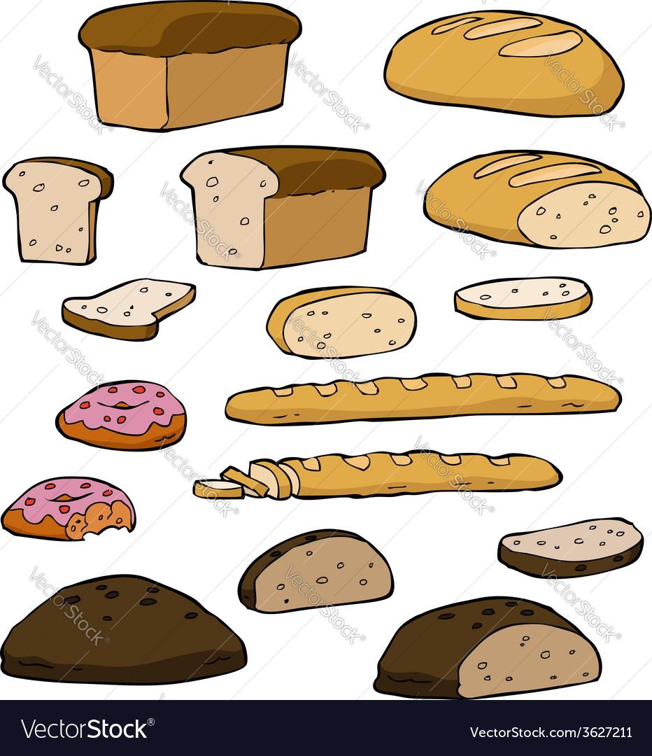 Set bread vector | Price: 1 Credit (USD $1)