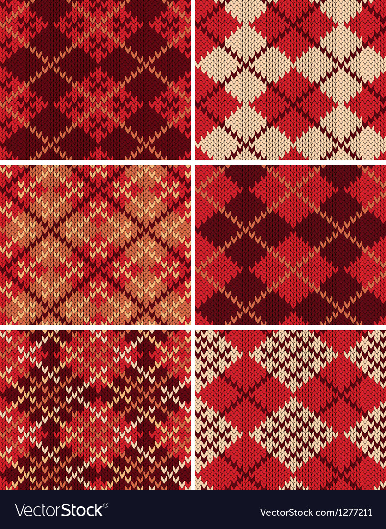 Set of knitted swatches vector | Price: 1 Credit (USD $1)