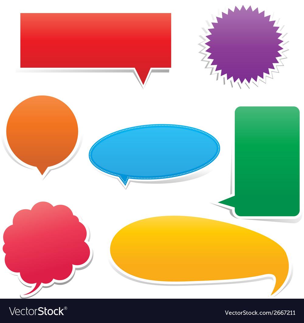 Set of speech bouble 0002 vector | Price: 1 Credit (USD $1)