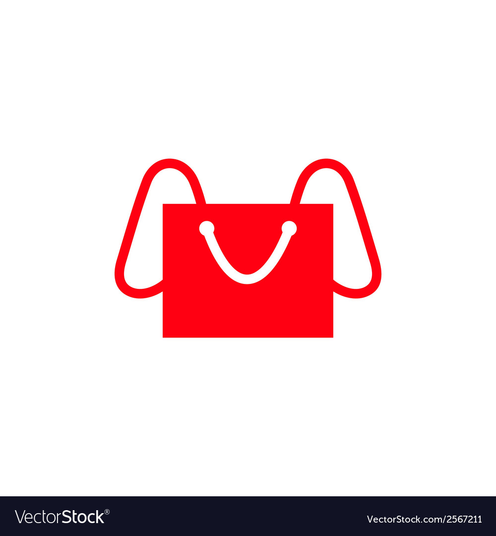 Shopping bag - elephant abstract sign vector | Price: 1 Credit (USD $1)