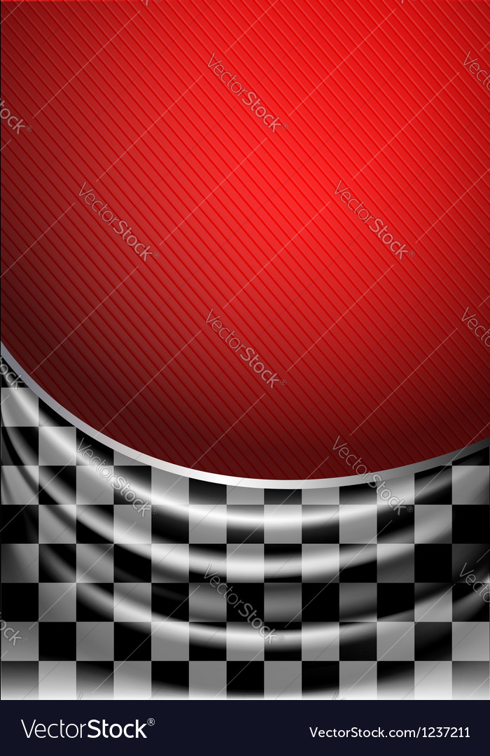 Silk tissue in checkered on a red background vector | Price: 1 Credit (USD $1)