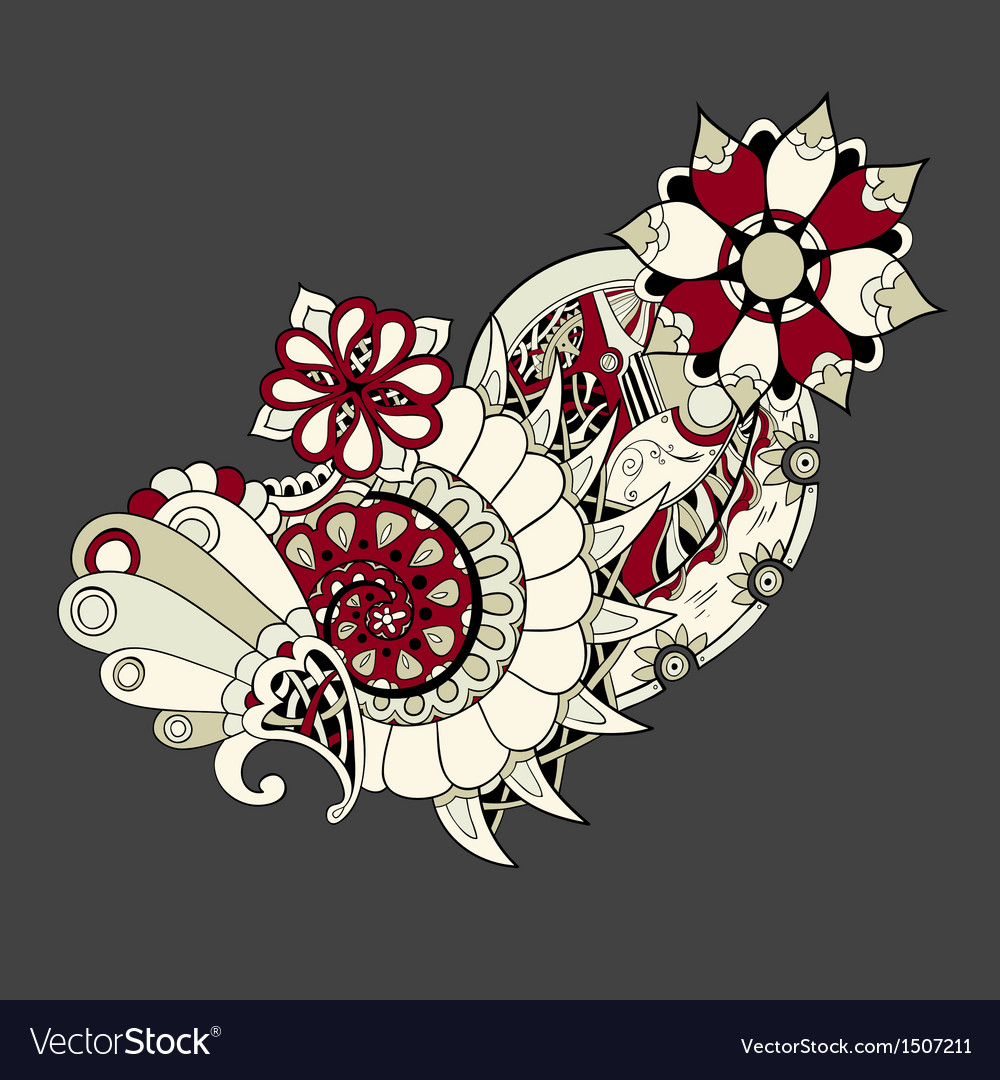 Wedding card or invitation with ornament vector   Price: 1 Credit (USD $1)