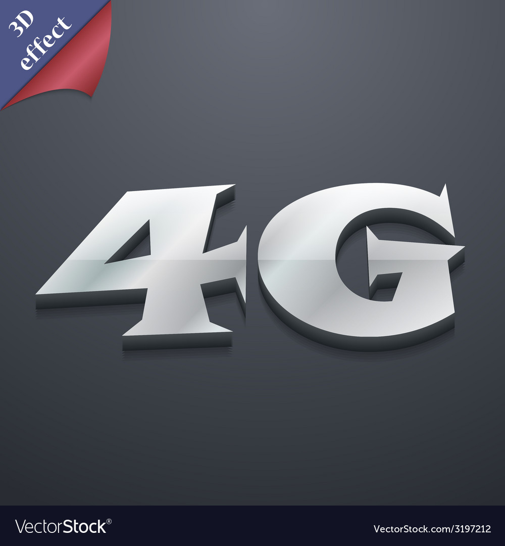 4g icon symbol 3d style trendy modern design with vector | Price: 1 Credit (USD $1)