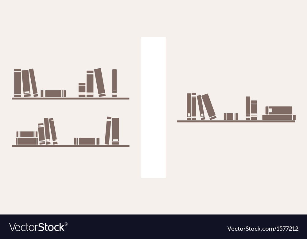 Books on the shelf simply retro set vector | Price: 1 Credit (USD $1)