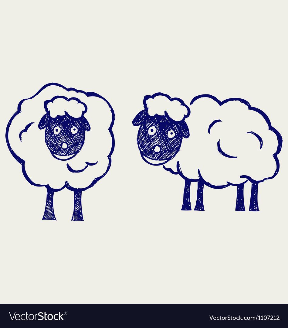 Cartoon sheep vector | Price: 1 Credit (USD $1)