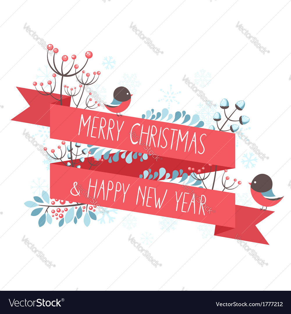 Christmas greeting card with decorative elements vector | Price: 1 Credit (USD $1)