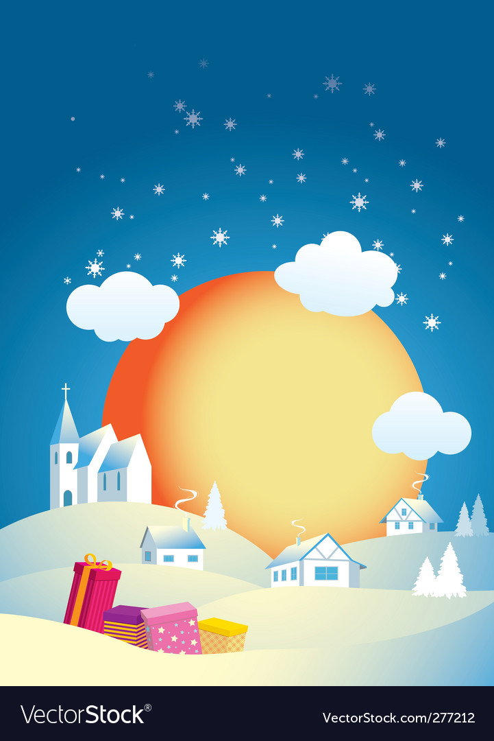 Christmas morning vector | Price: 3 Credit (USD $3)