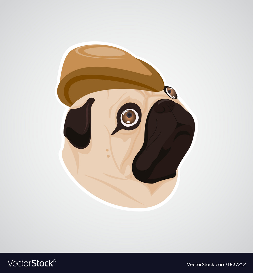 Dog brown hat vector | Price: 1 Credit (USD $1)