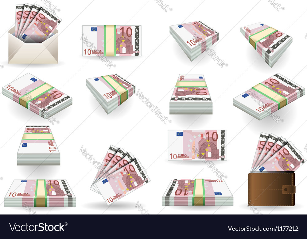 Euro 10 convertito vector | Price: 3 Credit (USD $3)