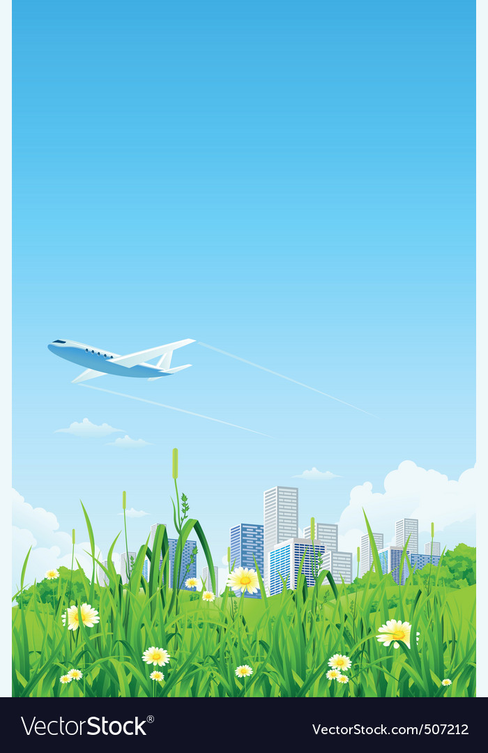 Green city vector | Price: 3 Credit (USD $3)
