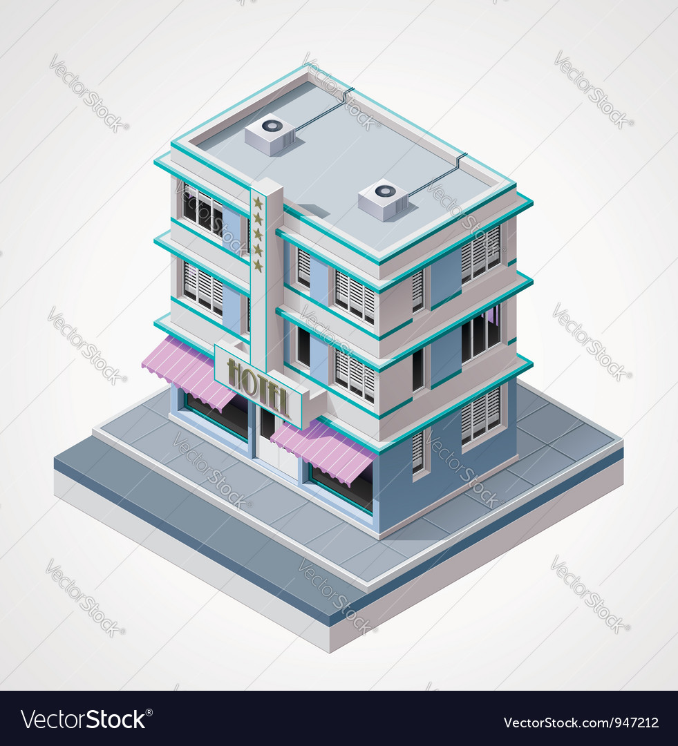 Isometric hotel vector | Price: 3 Credit (USD $3)