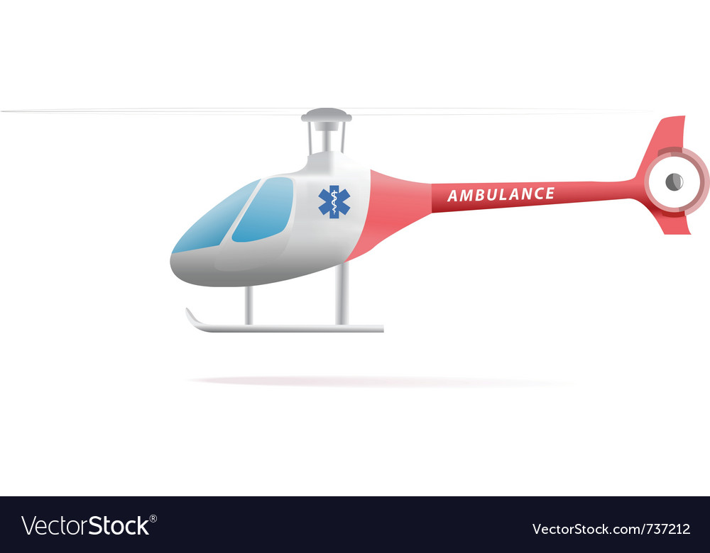 Medevac helicopter vector | Price: 1 Credit (USD $1)