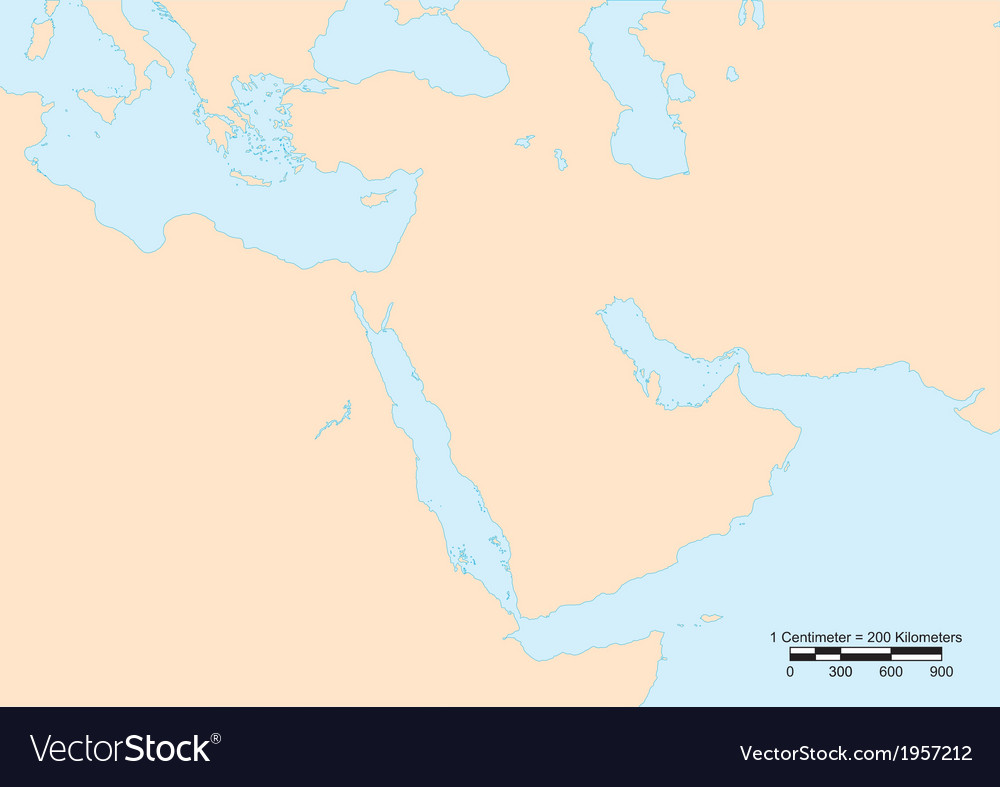 Middle east map vector   Price: 1 Credit (USD $1)