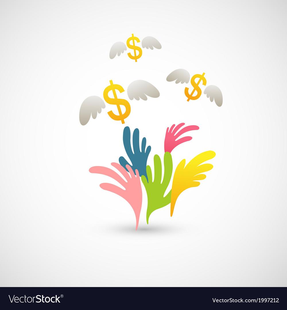 Money grab vector | Price: 1 Credit (USD $1)