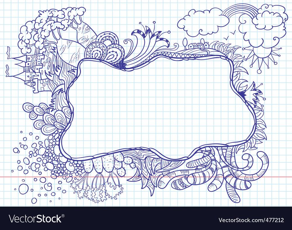 Nature doodles vector | Price: 1 Credit (USD $1)