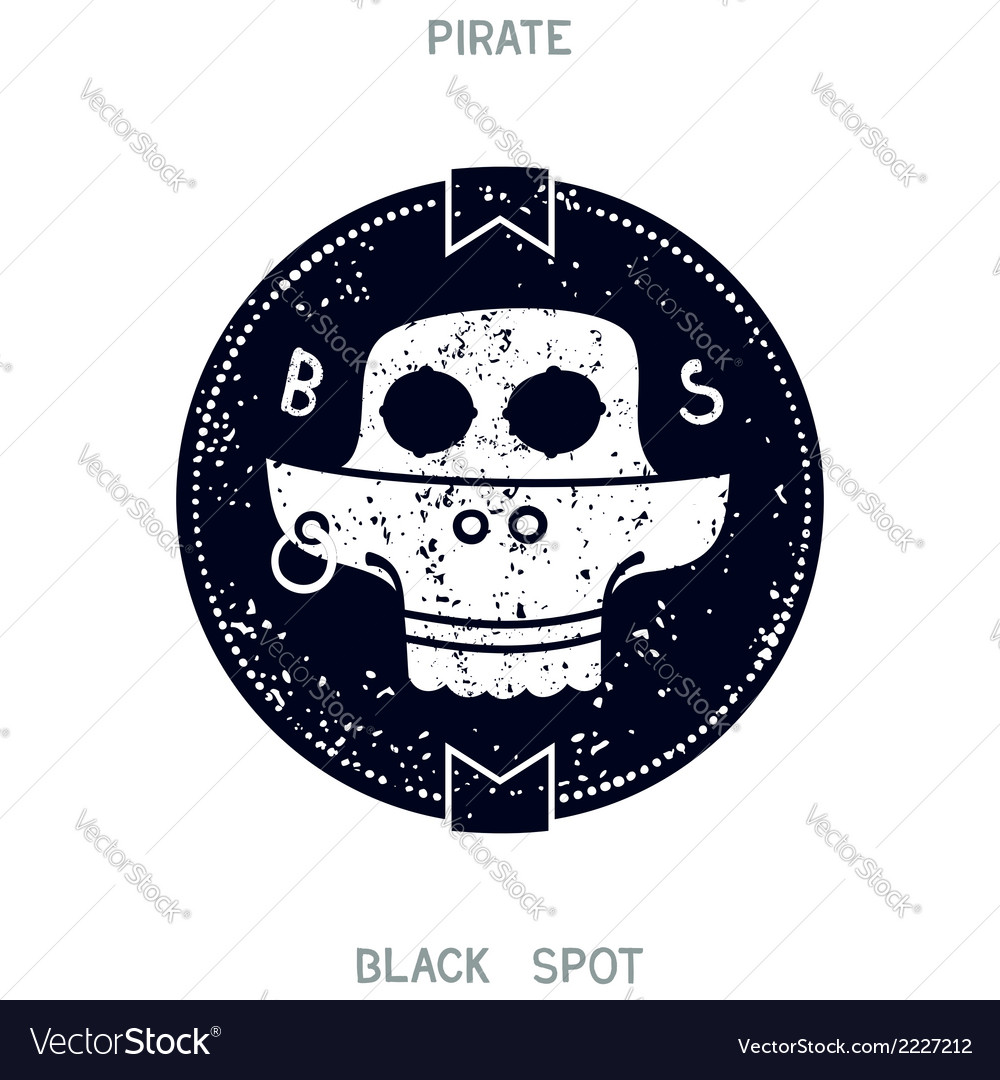 Pirate black spot vector | Price: 1 Credit (USD $1)