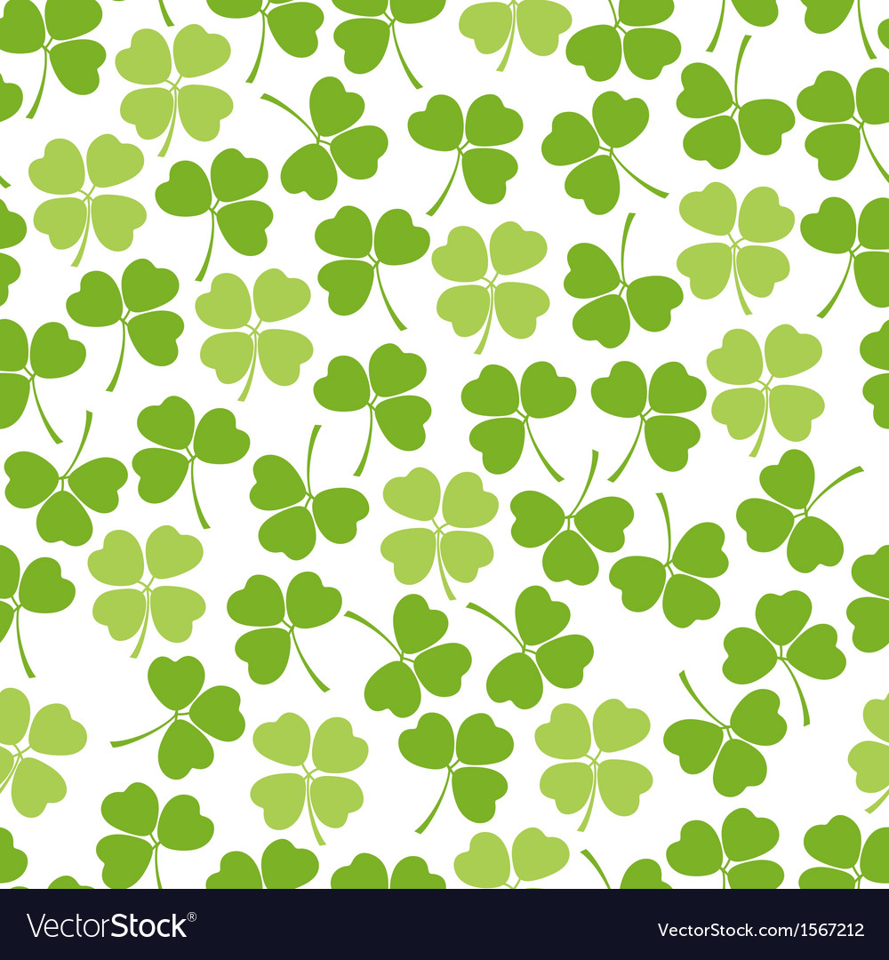 Seamless clover background vector | Price: 1 Credit (USD $1)