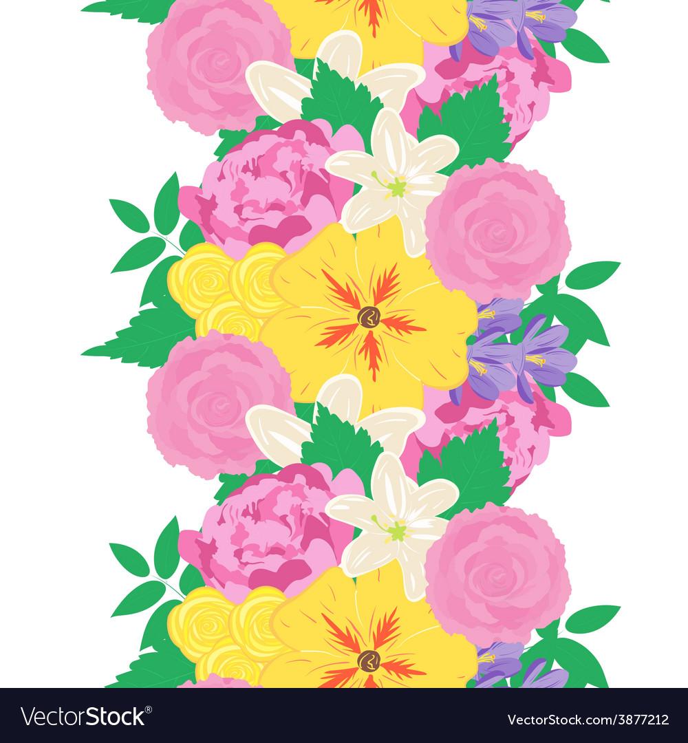 Seamless hand drawn flower pattern vector | Price: 1 Credit (USD $1)