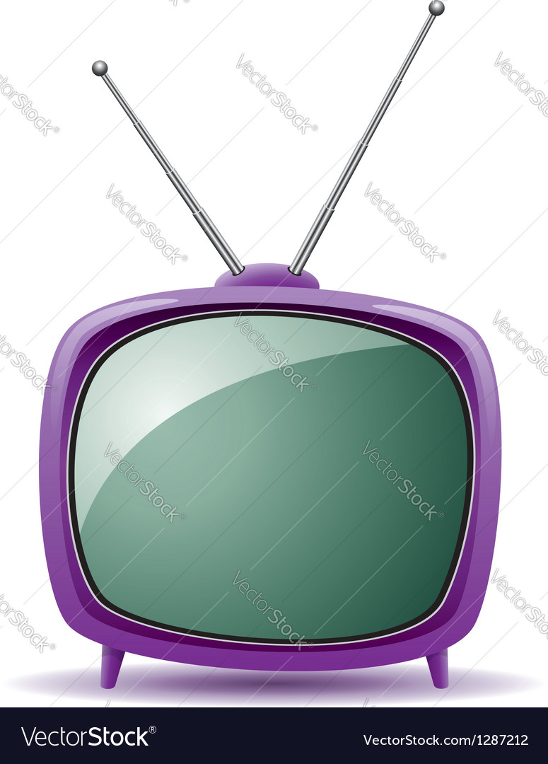 Tv set vector | Price: 1 Credit (USD $1)
